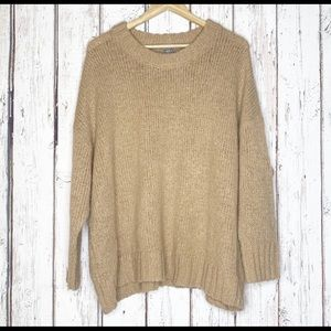 NWOT Aerie oversized tan sweater medium